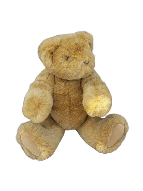 Vermont Teddy Bear 1998 Brown 13 inch Jointed Plush VTBC