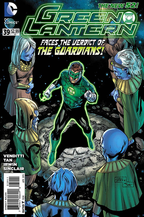 DC Green Lantern #39 April 2015 Faces the Verdict of the Guardians