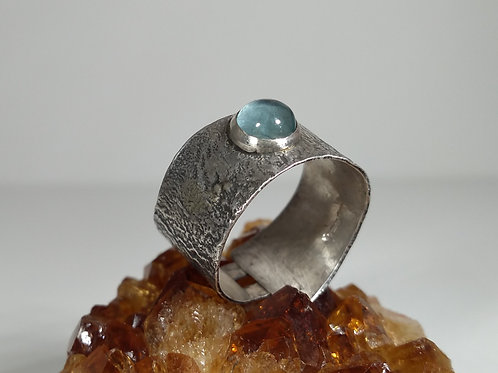 Reticulated Apatite Cuff Ring