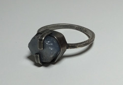 Raw Sapphire Hexagonal Ring