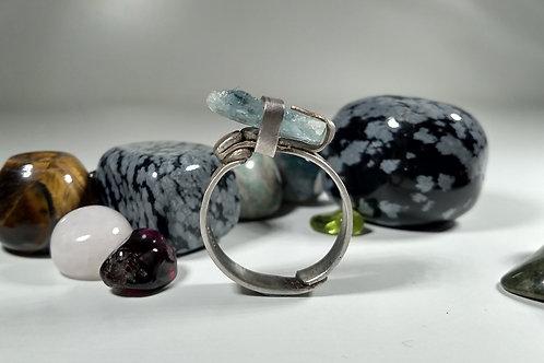 Raw Aquamarine 'Shard' Ring