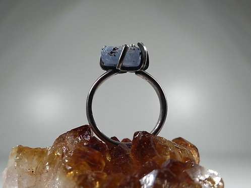 Raw Sapphire Claw Ring