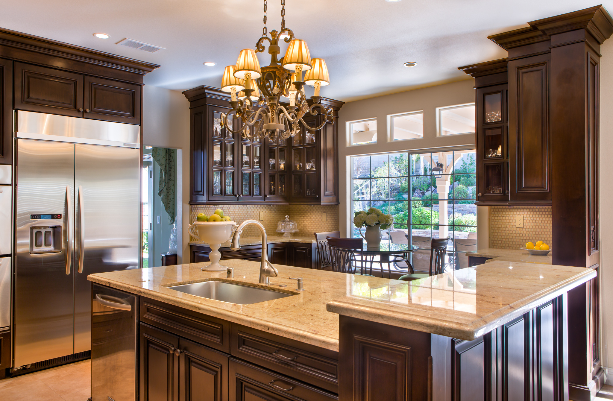 Walnut Traditional Kitchen