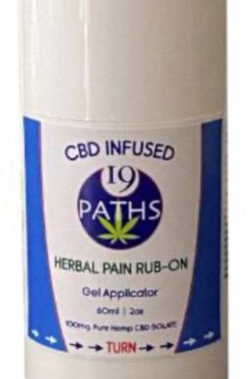 19 Paths CBD Infused Pain Rub-On - 100mg