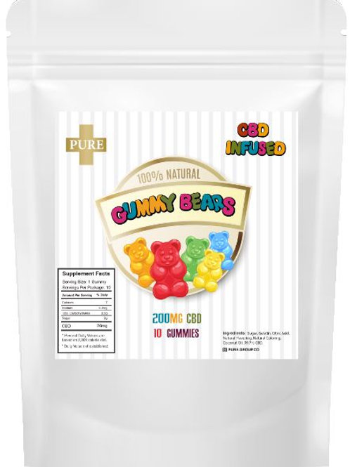 Pure CBD Gummy Bears (200mg)