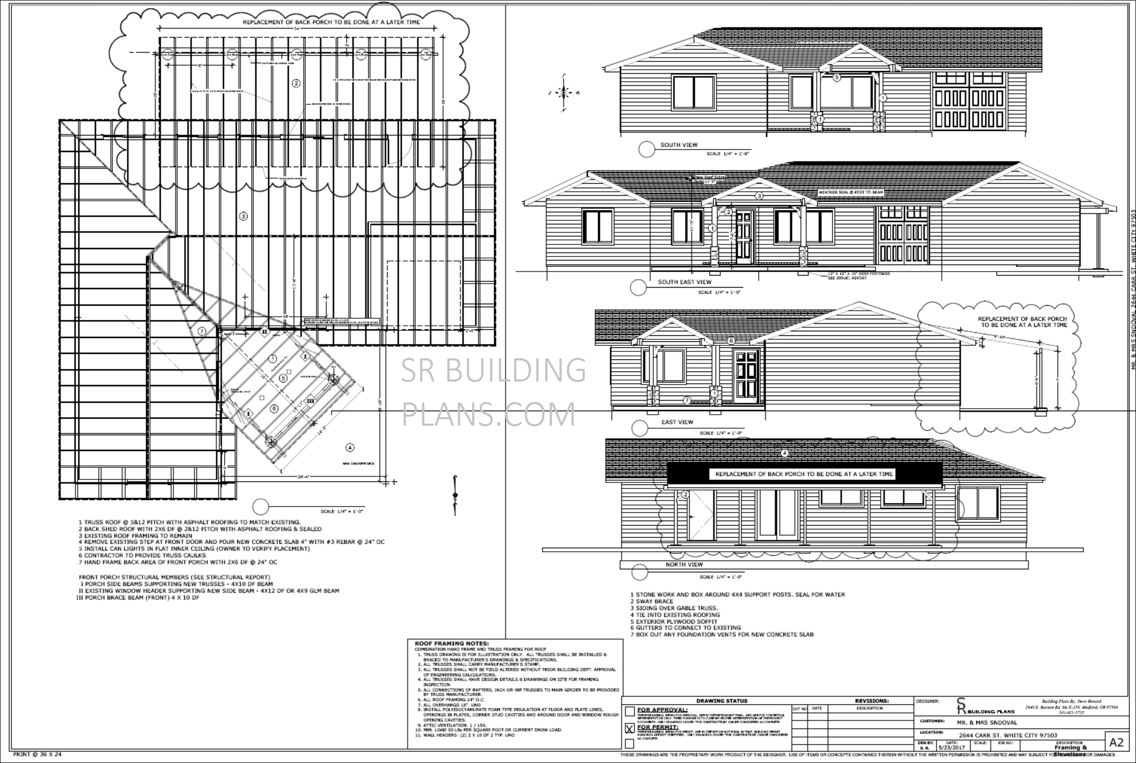 SR Building Plans Oregon