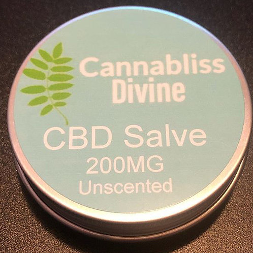 Cannabliss Divine CBD Salve - 200mg - unscented