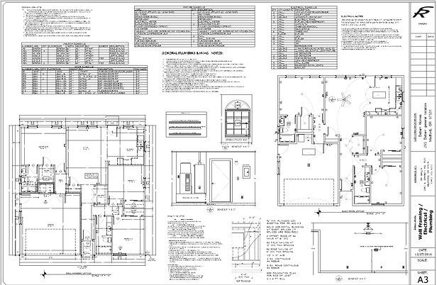 Blueprints and building plans for remodeling and new home construction