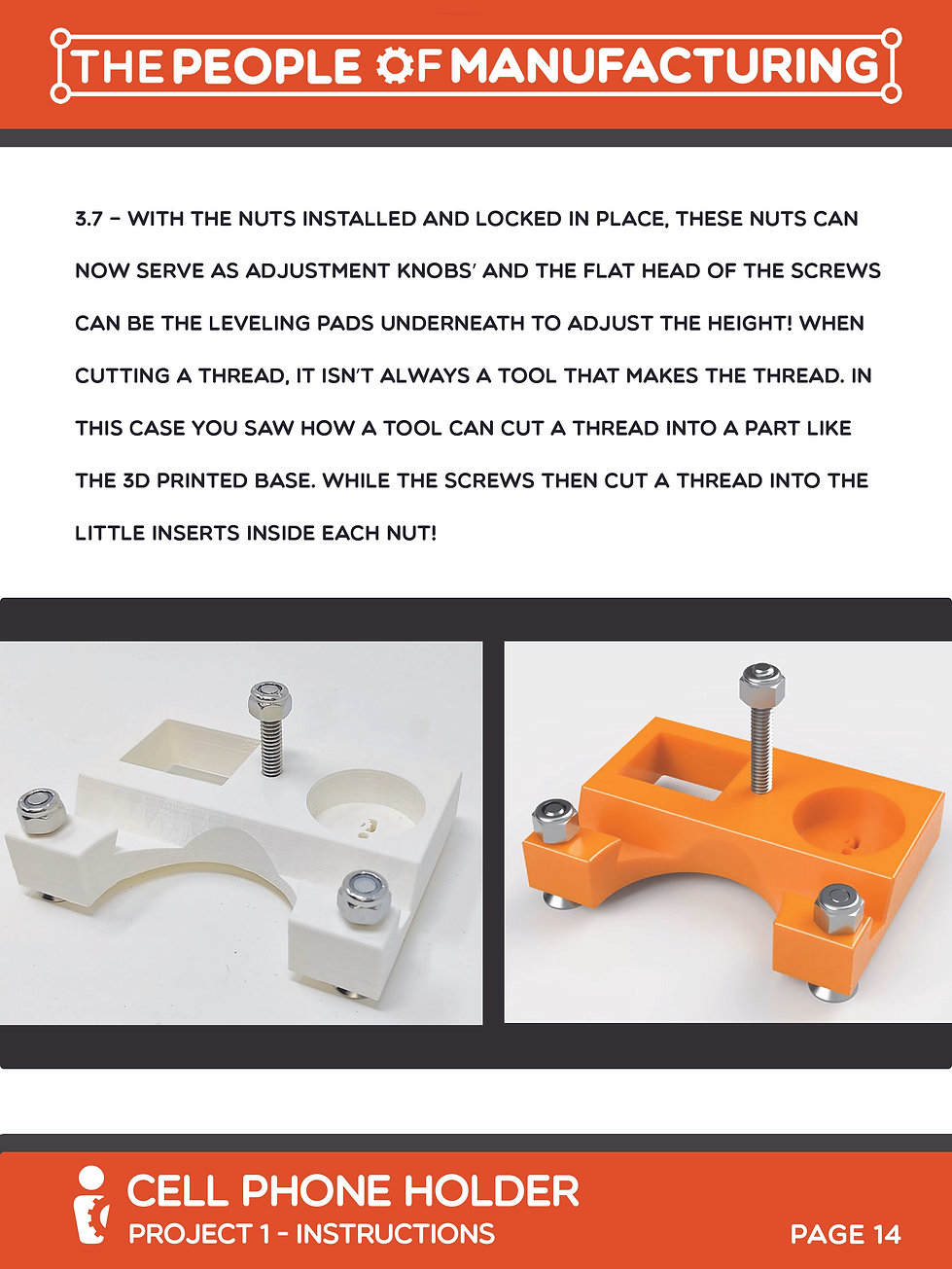 Cell Phone Page 14 - 3.0 LOCK NUT INSTAL