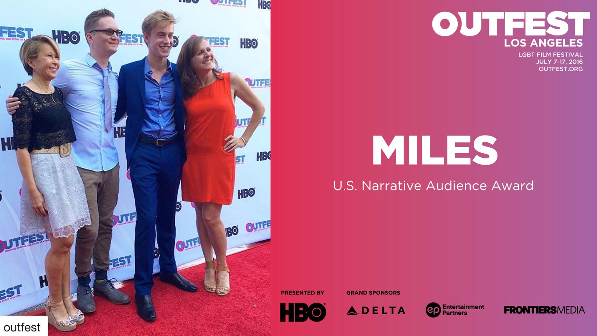 Outfest U.S Narrative Audience Award