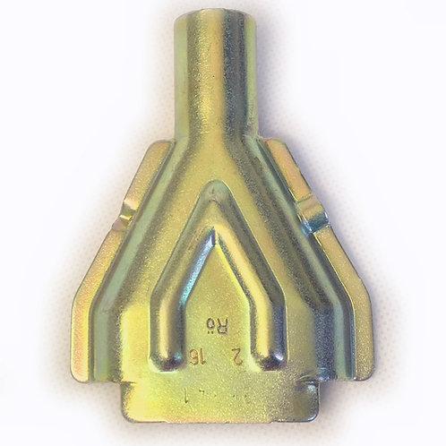 Cover funnel plate for Knott brakes