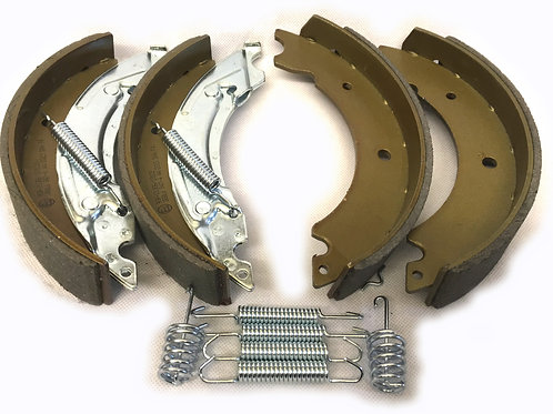 203.2mm x 40mm knott style brake shoe axle set