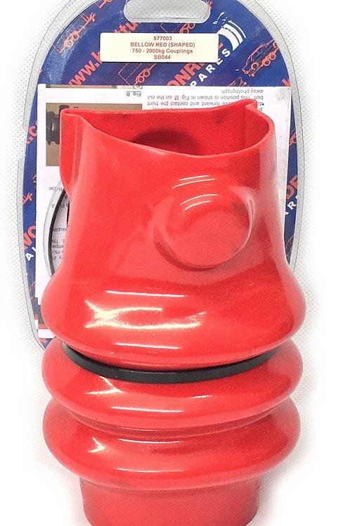 Red coupling gaiter to suit Knott & Avonride