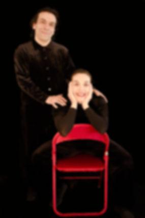 Jessica Vera, René Méndez actores profesionales de Fantasia Teatro