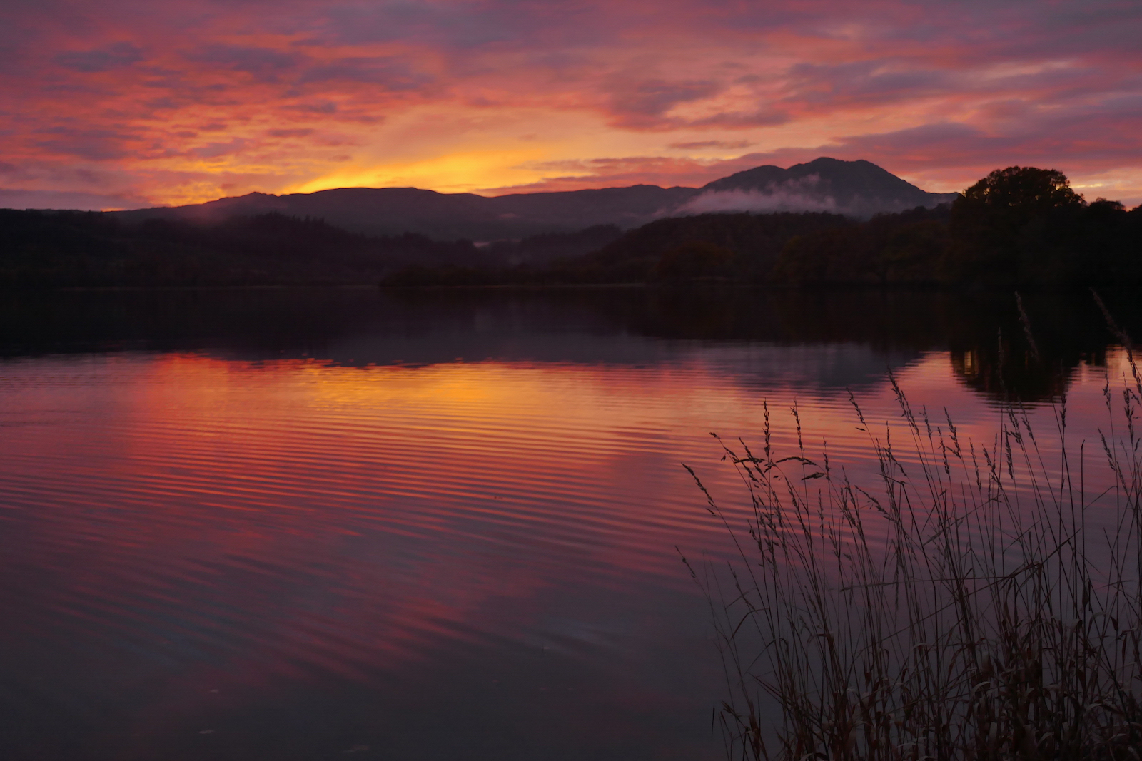 AUTUMN SUNSET, LOCH VENACHAR