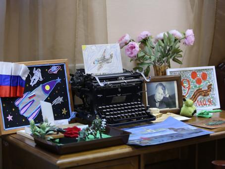 Открытие патриотической выставки детских поделок в культурном центре Твардовского