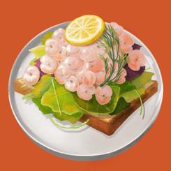 甘エビのオープンサンドプレート Open Faced Sandwich Plat