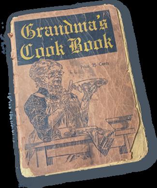 cook book おばあちゃんのレシピ
