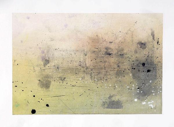 Stu oxley Untitled monoprint 24x36 2017.