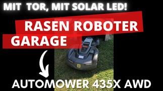 Garage mit Tor für Rasenmähroboter HUSQVARANA Automower 435X AWD und 535X AWD