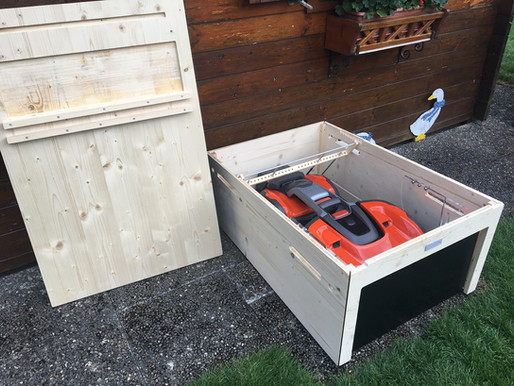 Rasenmähroboter Garage Flachdach für HUSQVARNA Automower 535X AWD