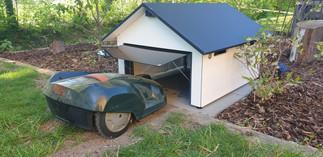 Mähroboter Garage mit Tor für HUSQVARNA Automower 220