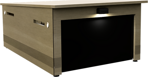 Mähroboter Garage Holz für Automower 435X und 535X AWD. Optimaler Schutz. Mit Tor. Wartungsfrei. Bausatz zum selber streichen