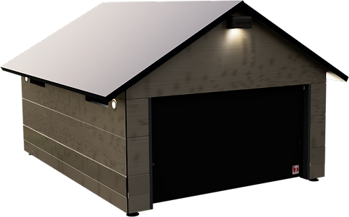 Rasenroboter Garage mit Tor für HUSQVARNA Automower 435X AWD und 535X AWD