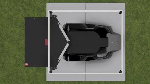 Rasenroboter Mähroboter Garage Automower, Installation