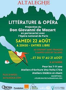AltaLeghje fête l'été et propose des ateliers gratuits pour les 7/11 ans : théâtre, écriture et illustration de conteset chant