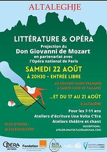 AltaLeghje fête l'été avec Mozart, en partenariat avec l'Opéra de Paris