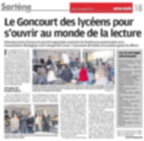 AltaLeghje partenaire de la Corse pour le Prix Goncourt des Lycéens 2017 - Corse Matin - 26 octobre 2017