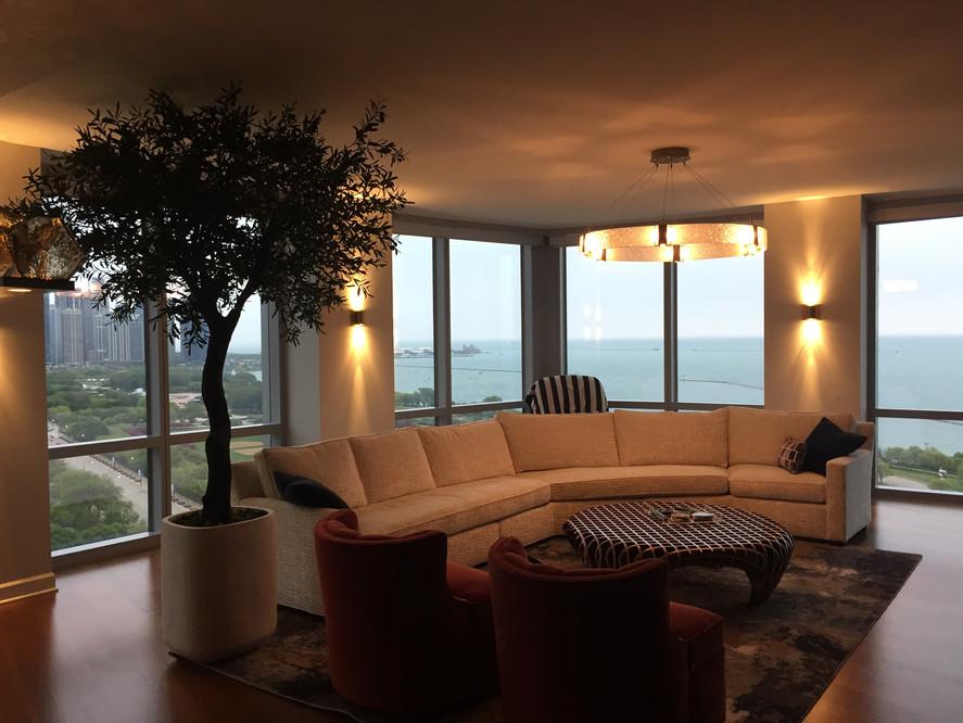 Condo installation 9' ceiling height