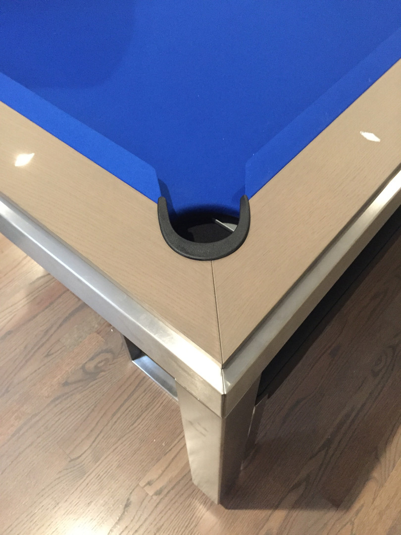 Stainless/Grey oak/royal blue