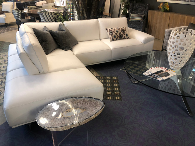 Bellini white leather sectional