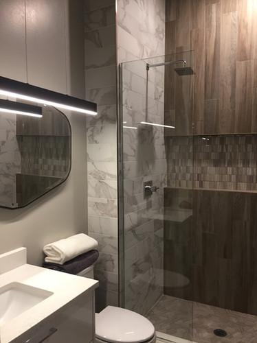 Porcelain Tile wood grain board/ marble mosaic