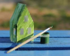 Hus malt med naturmaling