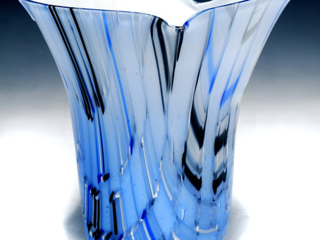 Tapestry Inspired Glass Vase