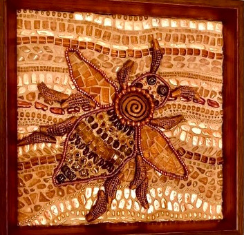 Bee Thankful - Mosaic Glass Art
