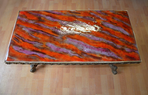Table basse orange