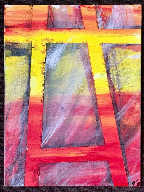 A-Frame, 9x12 on canvas panel