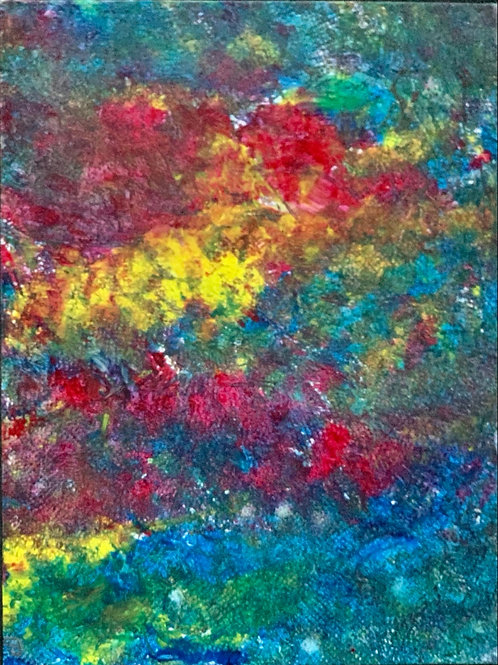 Bursting,  9x12 on canvas panel
