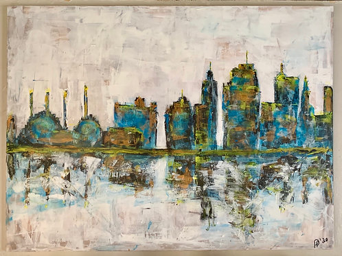 (Sold) Welcome to KC, 36x48