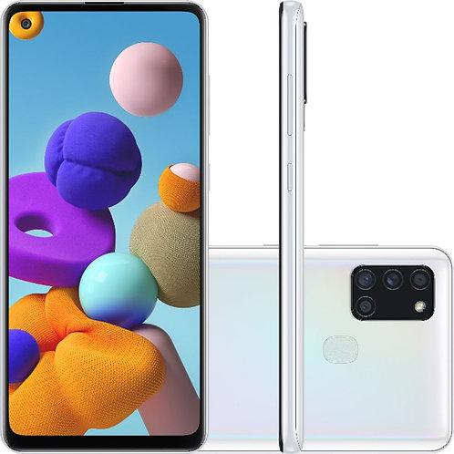 """Samsung Galaxy A21s, com Tela Infinita de 6,5"""", 4G, 64 GB e Câmera Quad."""