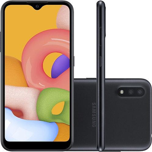 """Samsung Galaxy A01, com Tela de 5,7"""", 4G, 32GB e Câmera Dupla de 13MP + 2MP"""