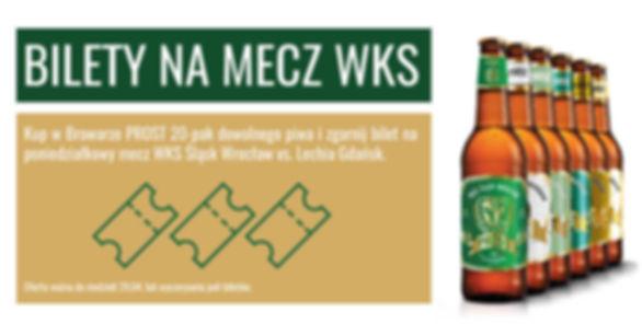 Kup 20-pak swojego ulubionego piwa marki PROST i zdobądź bilet za darmo!