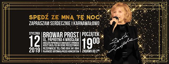 Całonocna impreza karnawałowa, której główną atrakcją będzie koncert Renaty Zarębskiej!