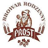 Brązowe logo browaru PROST