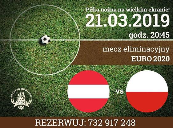 Obejrzyj mecz eliminacyjny Austria vs. Polska na dużym ekranie delektując się regionalnym piwem.