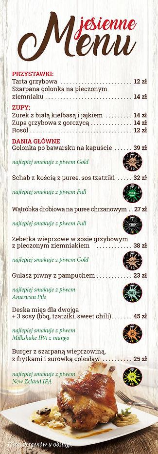 Jesienne menu 2020 - strona pierwsza